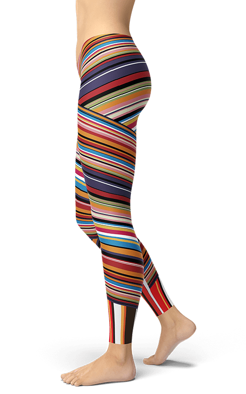 colourful stripes x-cross leggings yoga pants athleisure activewear for women gym fitness tights