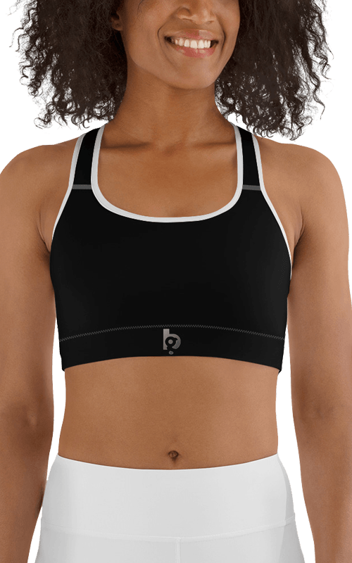 black beauty sports bra yoga gym fitness apparel athletic top athleisure