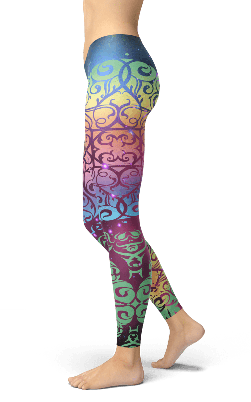galaxy mandala leggings for women sports wear clothing activewear gym and yoga clothes