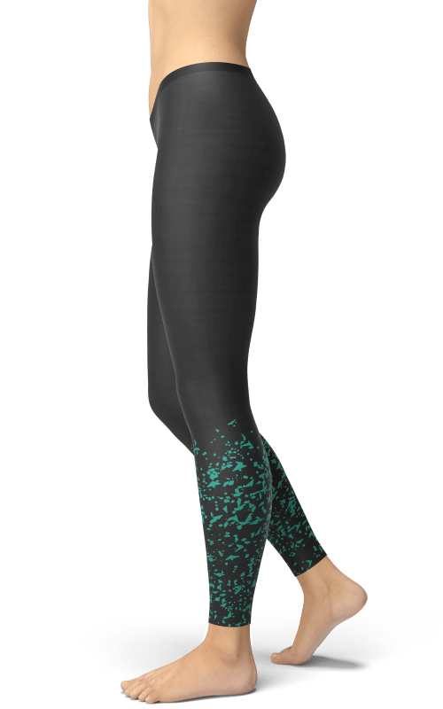 green sprinkle leggings yoga pats gym and fitness wear
