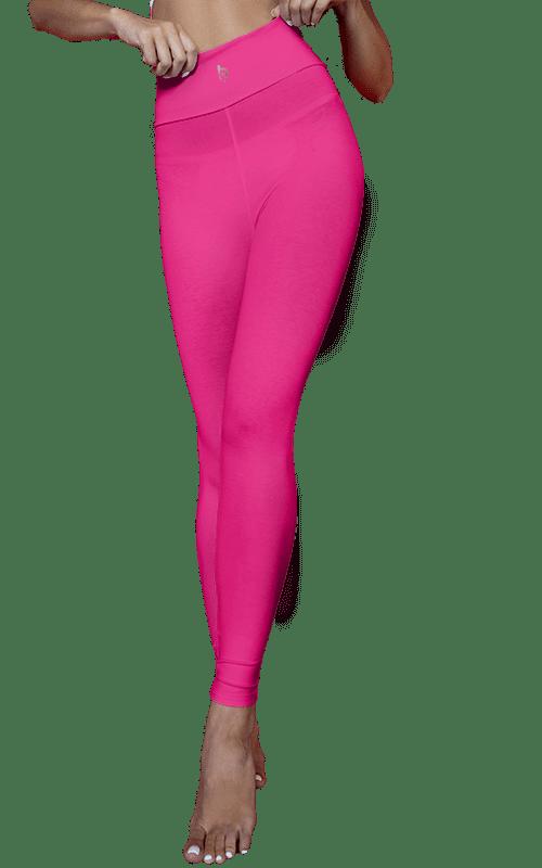 hot pink leggings high waist iconic squat proof soft fabric handmade