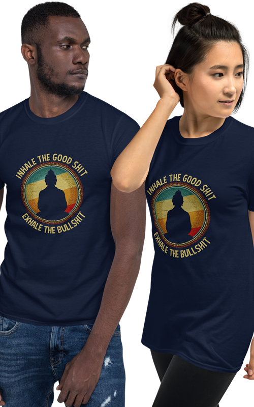 unisex exhale inhale bullshit t shirt tee gym wear activewear men and women