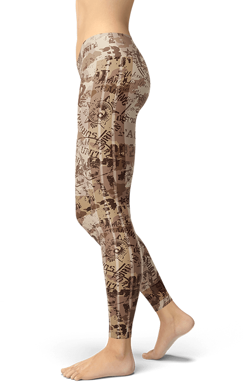 military camouflage badge leggings yoga tights athletic bottoms activewear for women gym and fitness wear