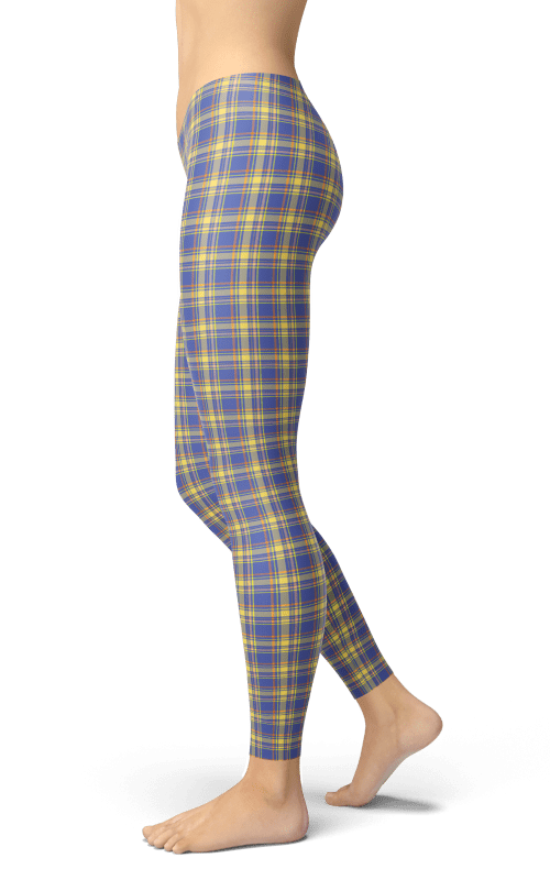 nevada tartan plaid leggings gym and fitness wear sports clothing athleisure