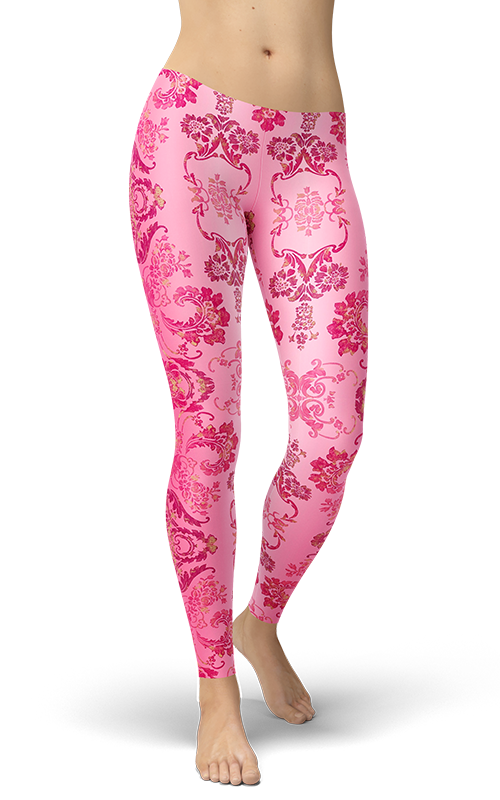 pink orchid leggings ombre pattern