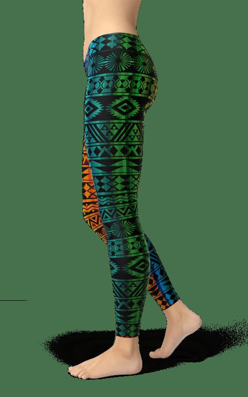 prism colors leggings rainbow colors yoga pants gym fitness athleisure clothing
