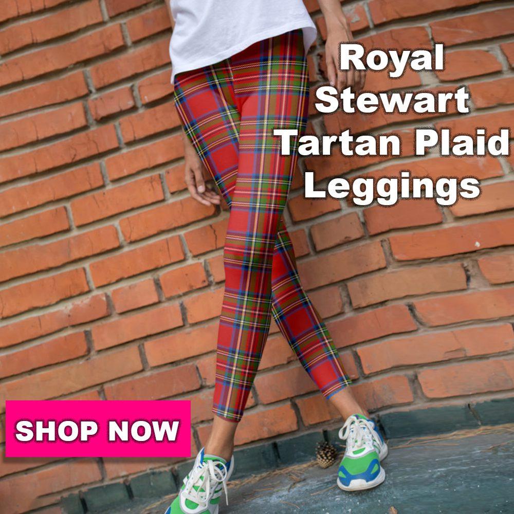 gearbaron royal Stewart tartan plaid leggings collection