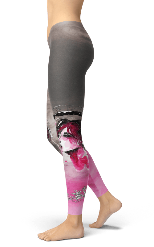 hand drawn watercolour scorpio zodiac leggings gym yoga fitness apparel sports clothing